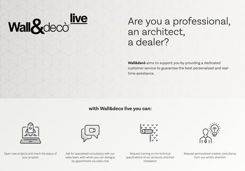 The new B2B service: Wall&decò live